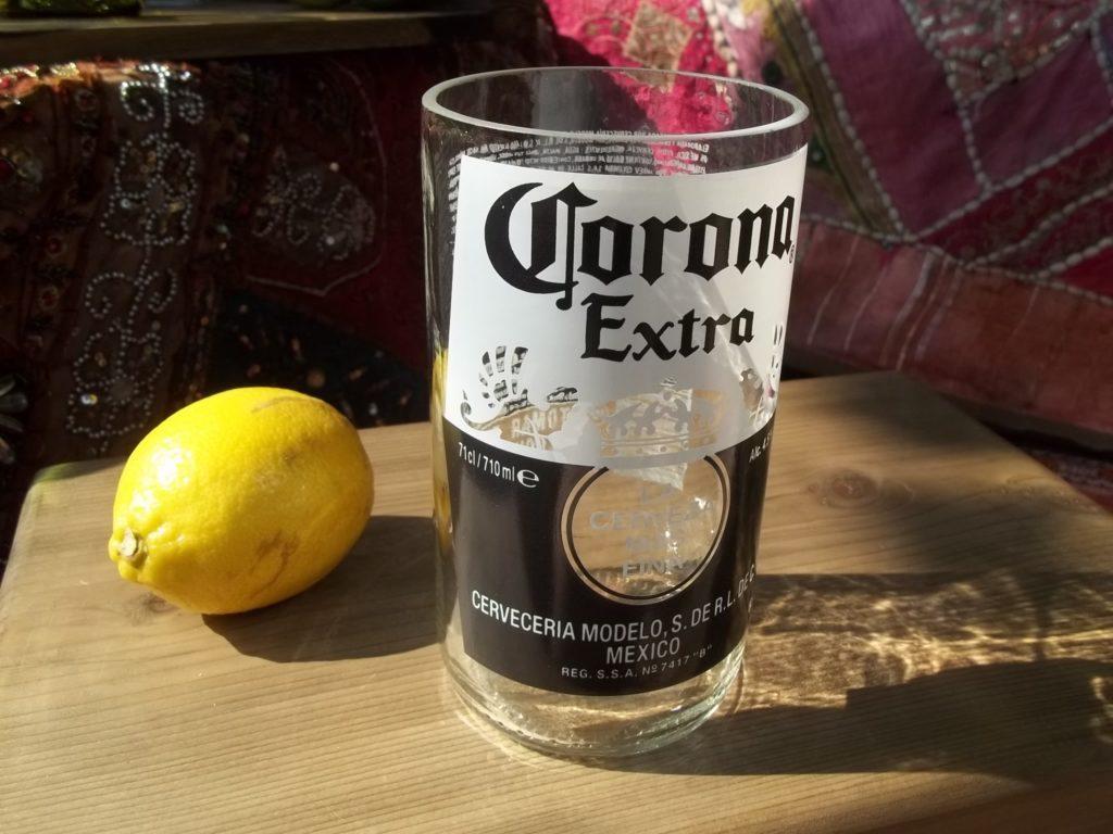 Corona Beer Bottle Glasses (1 pint)